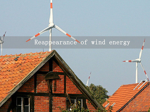 Reappearance of wind energy